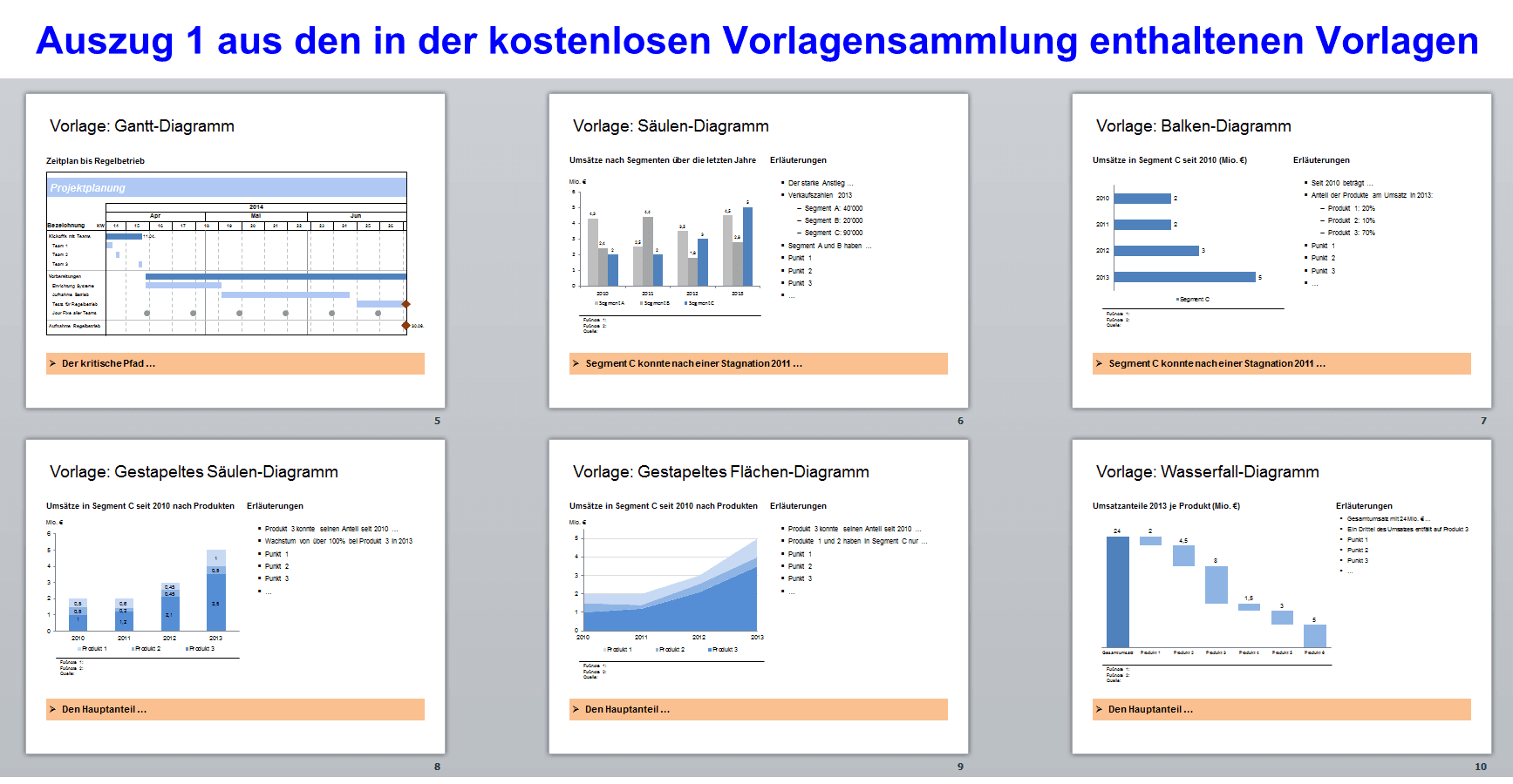 PowerPoint Folienbibliothek Template Collector: Zentrales ...