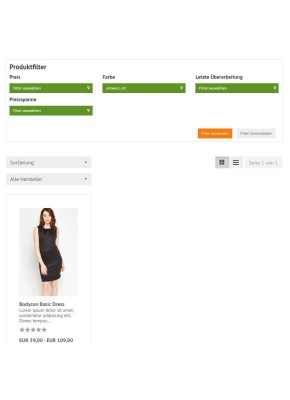 Flexible Produktfilter im Frontend