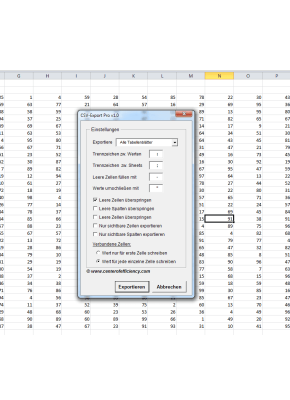 CSV Export Pro (Excel)